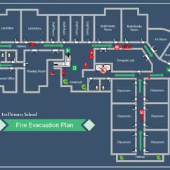 Example Of Fire Exit Diagram Dodge Dakota Suspension Parts How To Create School Evacuation Plan