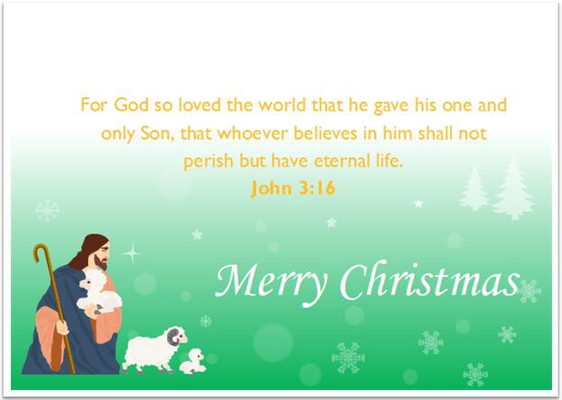 8 christmas card with