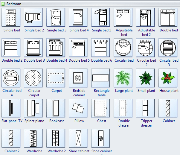 Bedroom Floor Plan Symbols  Psoriasisgurucom