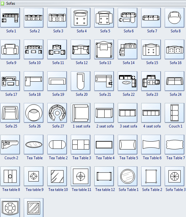 Symbols for Floor Plan  Sofa