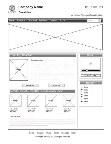 visio site map diagram blank dna wireframe examples - design
