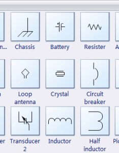 Electrical diagram symbols fundamental items also software create an easily rh edrawsoft