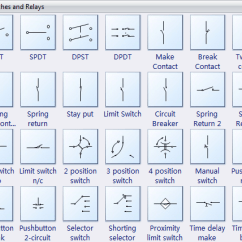 Basic Automotive Wiring Diagram Symbols For Subs And Amp Electrical Software Create An Easily Switches Relays