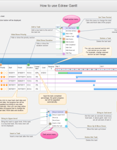 How to draw gantt chart interior decoration template also software create with free rh edrawsoft