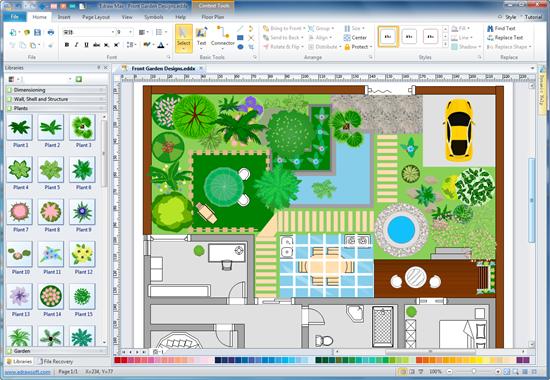 draw landscape plan