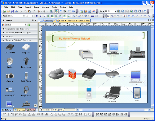 Network Diagram Screenshots
