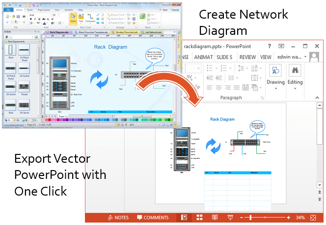 network diagrams in powerpoint