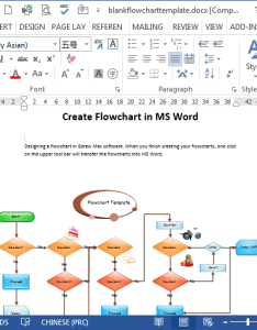 Blank flowchart template in word also flowcharts rh edrawsoft