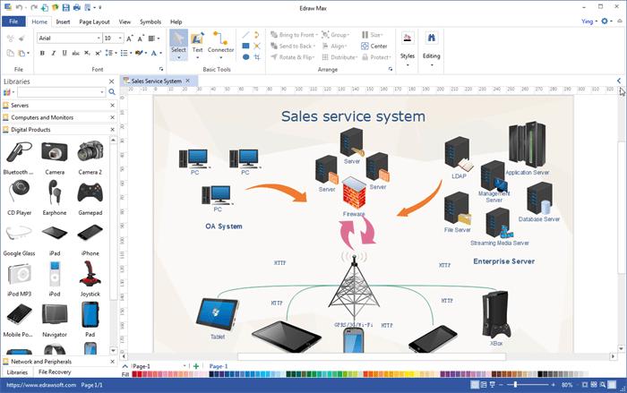 visio electrical diagram sub zero 532 parts all-in-one visualization software - edraw max