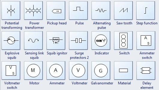 schematic wiring diagram symbols motor u v w electrical drawing software transformer