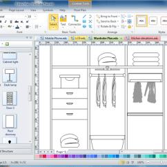 Kitchen Cabinet Software Refacing Diy Design Edraw