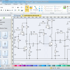 Visio Electrical Diagram Wiring For Outside Light Sensor Alternative Engineering Edraw Drawing Software