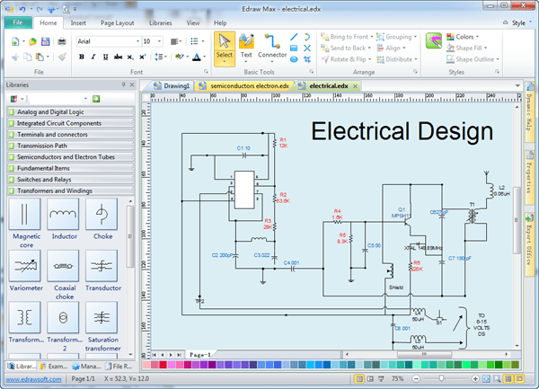 wiring diagram software free,