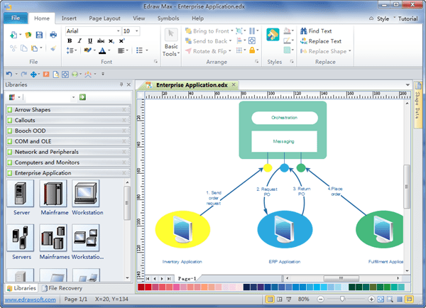 visio application diagram nose and smell enterprise software