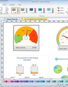 Gauge chart maker also simple make great looking rh edrawsoft