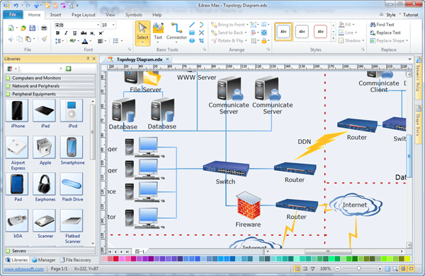Easy Topology Diagram Software Create Great Looking Topology Diagram