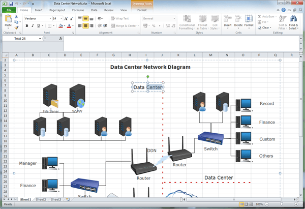 Network Diagram For Excel
