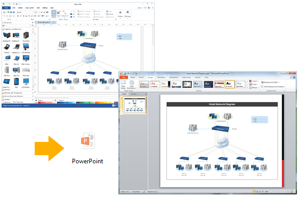 Create Network Diagram For PPT