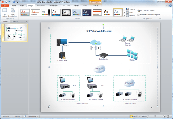 create network diagram for