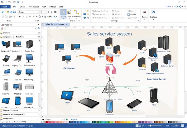 software to create network diagram waterfall formation desktop program great looking