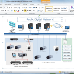 Telecom Network Diagram Microsoft 2005 Dodge Caravan Radio Wiring Create Diagrams For Word