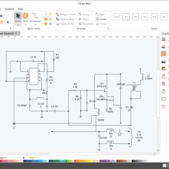Draw Wiring Diagrams Remote Access Network Diagram Schematics Maker Create Schematic Easily