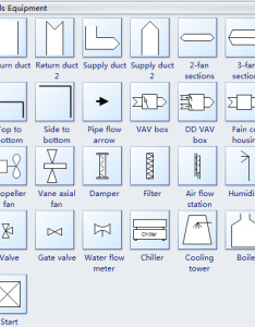 Hvac controls equipment symbols also standard plan and their meanings rh edrawsoft