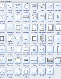 Hvac equipment symbols also standard plan and their meanings rh edrawsoft