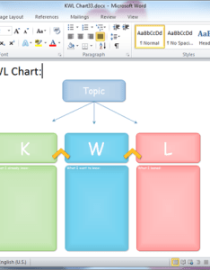 Word kwl chart template also templates for rh edrawsoft