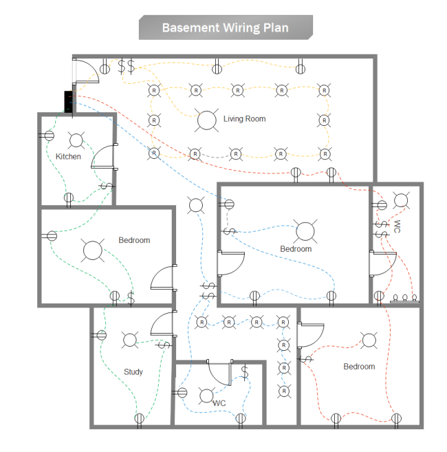 basic home wiring layout lighting