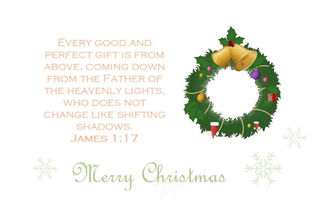 bible verse christmas card