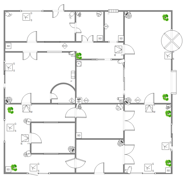 electrical plan of commercial building