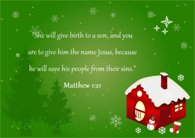 christmas card bible scripture