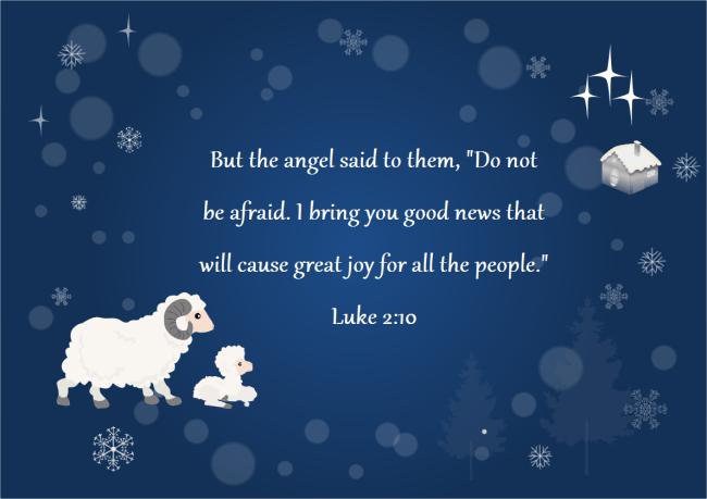 christmas card bible verse