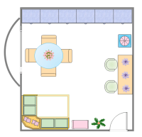 Dining Room Layout | Free Dining Room Layout Templates