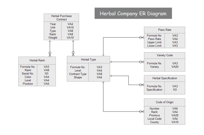 relationship code diagram rj11 wiring using cat5 what is an entity erd all you need to know herbal company example