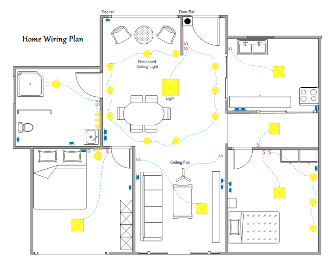 home wiring plan house wiring diagram software household wiring diagrams at gsmx.co