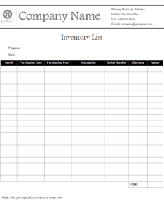 Inventory list example also examples free download rh edrawsoft