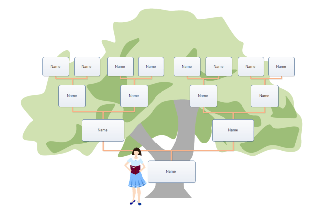 blank tree diagram graphic organizer of top hand general types organizers and templates kids family