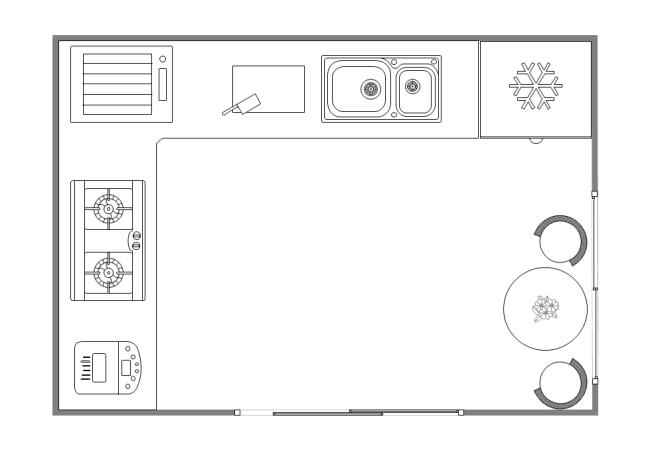 kitchen plans black faucets pull out spray design layout free templates