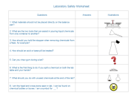 Laboratory Equipment Worksheet