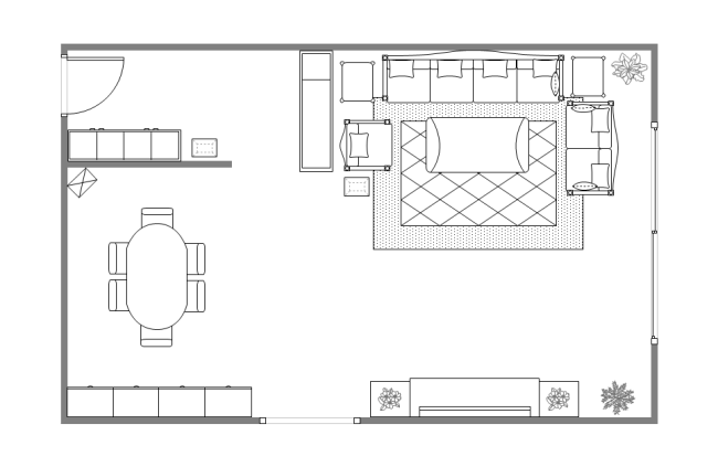 Living room plans layout for Room design layout templates