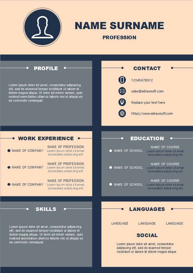 Modern Infographic Resume Free Modern Infographic Resume