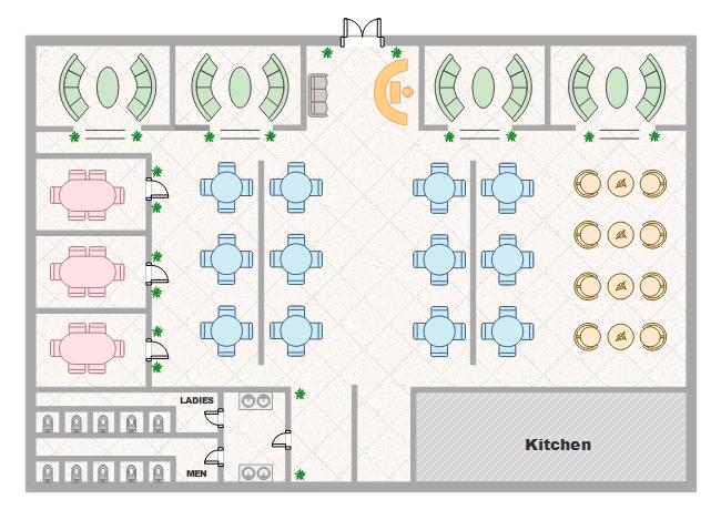 Free Restaurant Floor Plan Templates