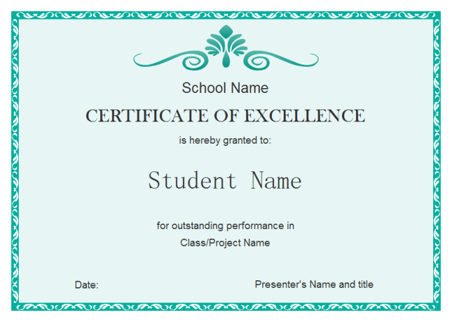 Student Excellence Certificate | Free Student Excellence Certificate ...