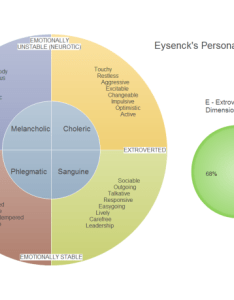 Personality mind map temperament categories diagram also pie chart rh edrawsoft