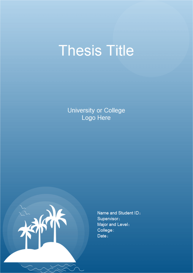 Thesis Title Page Free Thesis Title Page Templates