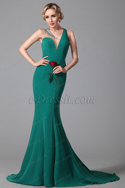 spandex polyester evening gown formal dress