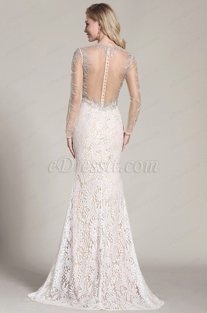 eDressit Stunning Beaded Prom Dress Back