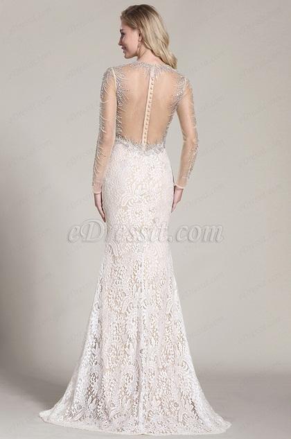 eDressit Stunning Beaded Prom Dress Back